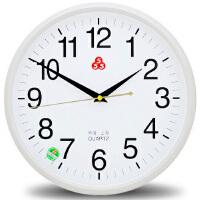 钟表挂钟客厅家用现代简约大气时钟卧室电子石英钟圆形静音