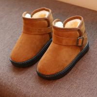 儿童棉鞋女童2018新款短靴冬季宝宝雪地靴加绒男童防水冬天鞋靴子srr