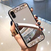苹果XS max手机壳水钻女iphone7plus潮牌6S镜面带钻石xr网红8镜子