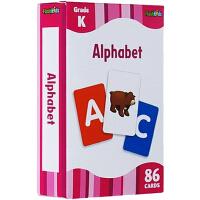 英文原版 Alphabet 86张字卡少儿童盒装 Flash Kids Cards 英文字母启蒙高效学习闪卡