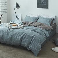 床上三件套学生宿舍北欧ins床上用品家纺四件套简约网红床单被子被套三件套1.8m床笠