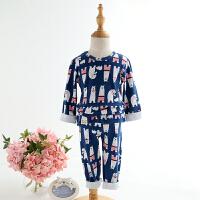 儿童套装纯棉男童女童秋衣秋裤中小童家居服儿童睡衣长袖韩版