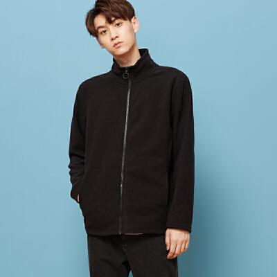 美特斯邦威旗下 4M开衫卫衣男学生韩版潮流春装新款开衫外套宽松潮