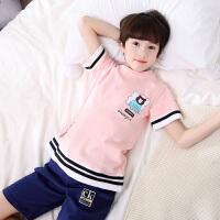儿童睡衣夏季短袖薄款夏天宝宝男童小孩中大童家居服套装男孩