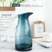 北欧渐变色玻璃花瓶创意家居客厅餐桌面干花插花器简约装饰品摆件