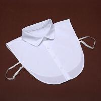 白衬衣领装饰衬衫毛衣职业装雪纺衫学士服毕业照假领男女皆可搭配LP 白色圆头