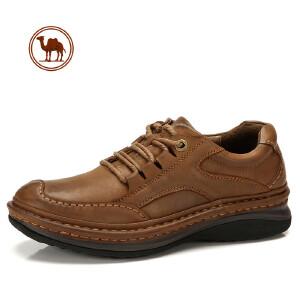 骆驼牌男鞋秋冬舒适手工缝线鞋真皮户外休闲鞋英伦增高皮鞋男皮鞋