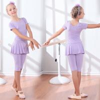 儿童练功服棉春夏瑜伽服少儿拉丁中国舞女童舞蹈服长短袖裙裤套装