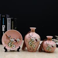 创意家居饰品陶瓷花瓶摆件装饰房间的小饰品酒柜电视柜摆设工艺品