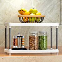 思故轩 置物架 厨房层架塑料落地收纳储物架 浴室客厅整理架子两层Z612
