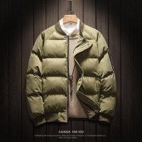 棒球领加厚棉衣面包服男大码短款外套宽松潮青年保暖棉袄冬装
