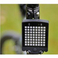 安全车尾灯led警示灯骑行自行车灯车尾灯转向灯山地车激光后尾灯USB充电