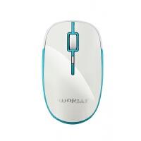 无线鼠标 烽火狼无线静音充电鼠标 商务办公鼠标 笔记本电脑配件 白蓝色 充电版