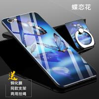 手机壳iPhone6钢化玻璃保护套S防摔手机套iPhone6S全包硅胶软套硬壳减压玻璃镜面外壳男女款
