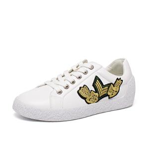 如熙2017秋季新款单鞋板鞋韩版潮流女鞋低帮鞋平底鞋小白鞋