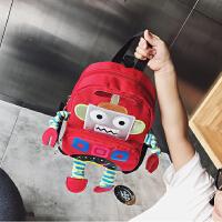 儿童书包个性双肩包可爱男宝宝背包女新款韩版时尚卡通立体机器人