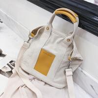 单肩包大容量布袋包包女包新款2019时尚帆布包斜挎女手提包潮