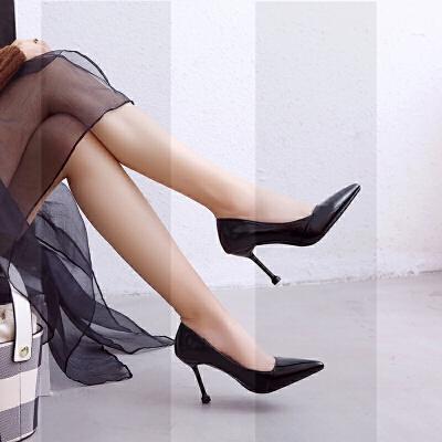 红色晚礼服高跟鞋女细跟宴会女鞋秋冬2018新款尖头敬酒鞋结婚单鞋SN4089