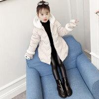 儿童冬装女童棉衣韩版棉袄厚外套宝宝洋气中长款羽绒