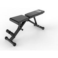 新款健身椅哑铃凳家用多功能仰卧起坐板腹肌健身器材可折叠卧推凳 黑色