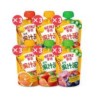 亨氏果泥 多口味果汁泥大组合120g*18袋 婴儿辅食宝宝零食