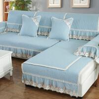 欧式沙发垫四季通用布艺坐垫子简约现代防滑罩沙发套全包非�f能套