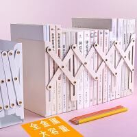 伸缩书立/三联学生书夹挡书靠大号隔书夹板加厚简约卡通金属铁架