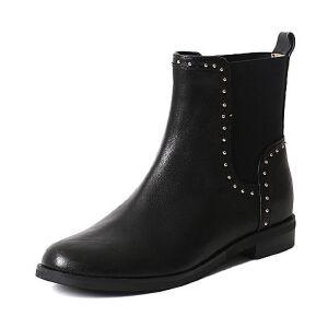 Teenmix/天美意冬季专柜同款绵羊皮女短靴6Q141DD6