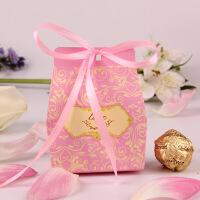 喜糖盒子创意 婚礼 欧式糖盒结婚庆用品个性糖果包装盒中式纸盒 (50只价)中号(可装三颗费列罗)