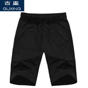 夏季新款古星男士运动短裤休闲五分裤棉宽松大码中裤透气跑步裤子