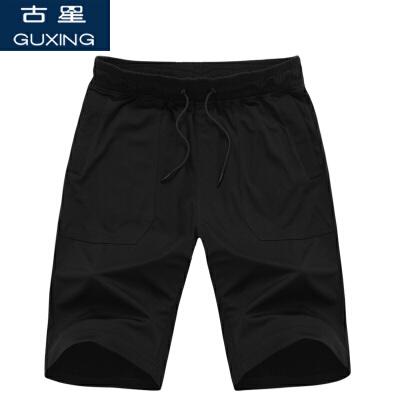 夏季新款古星男士运动短裤休闲五分裤棉宽松大码中裤透气跑步裤子新品特惠