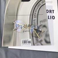 2018新品椭圆金属全框眼镜框女网红同款简约时尚平光眼镜学生眼镜架男