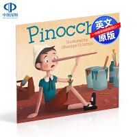 英文原版 Pinocchio 匹诺曹 木偶奇遇记 DK经典童话 儿童英语启蒙认知早教绘本 亲子互动共读读物 幼儿睡前晚安