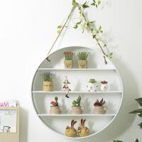 北欧创意置物架家居室内墙面装饰品挂饰餐厅奶茶店服装店个性挂件 圆形置物架