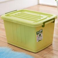 加厚特大号收纳箱塑料储物箱有盖衣服棉被子整理箱收纳整理盒滑轮