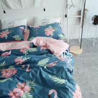 春秋北欧纯棉1.2三件套床上用品全棉田园鸟四件套1.8床笠1.5被罩