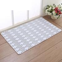 洗澡淋浴房脚垫家用卫浴垫子PVC浴室防滑垫洗手间卫生间地垫 乳白色 链条款
