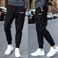 Adidas阿迪达斯 男裤 运动休闲小脚训练长裤 DX3686