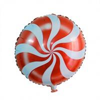 18寸圆形棒棒糖铝膜气球糖果周岁铝箔汽球婚庆生日装饰派对布置