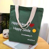 韩版新款帆布包单肩包学院风学生休闲购物袋女包补习书包手提包