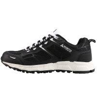 越野跑鞋春秋新款男防滑耐磨户外鞋子登山徒步运动跑步鞋 黑色 男