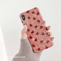 爱心贝壳纹8plus苹果x手机壳XS Max/XR/iPhoneX/7p/6女iphone6s套