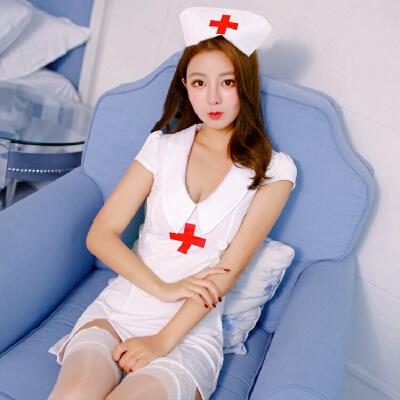 情趣内衣制服诱惑睡衣用品护士装服性感SM骚透视丝袜开档激情套装