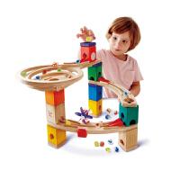 Hape夸得瑞拉旋风小子套4-99岁益智玩具滚珠积木拼搭木质儿童玩具婴幼玩具木制玩具轨道滑道E6021