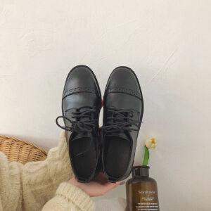 WARORWAR 2019新品YN1-X328-1春季通勤ol平底鞋舒系带女鞋潮流时尚潮鞋百搭潮牌单鞋女