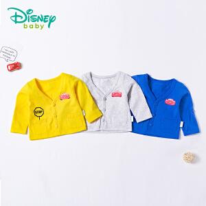 迪士尼Disney 童装婴儿衣服春秋新款纯棉男童外套肩开扣宝宝外出长袖T恤开衫181S1002