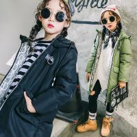 2017冬季新款儿童羽绒服中长款加厚保暖男童女童中大童装羽绒服外套女童外套潮  SDM1718一字款