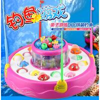 【悦乐朵玩具】儿童电动钓鱼玩具小猫钓鱼音乐灯光亲子互动宝宝过家家早教益智游戏玩具送男孩女孩1-3-6岁新年圣诞礼物