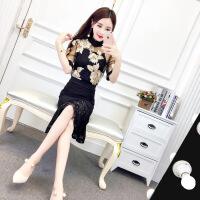 2018春季新款韩版时尚花朵上衣+小背心+时尚拼色鱼尾裙套装女
