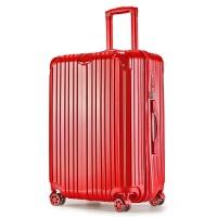 万向轮拉杆箱结婚行李箱婚庆新娘婚礼陪嫁箱子皮箱包密码箱大红色